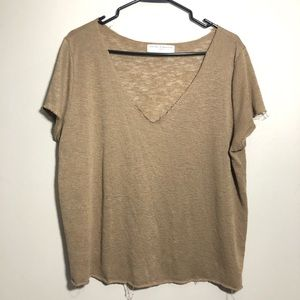 Project Social T x UO oversized brown knit tee
